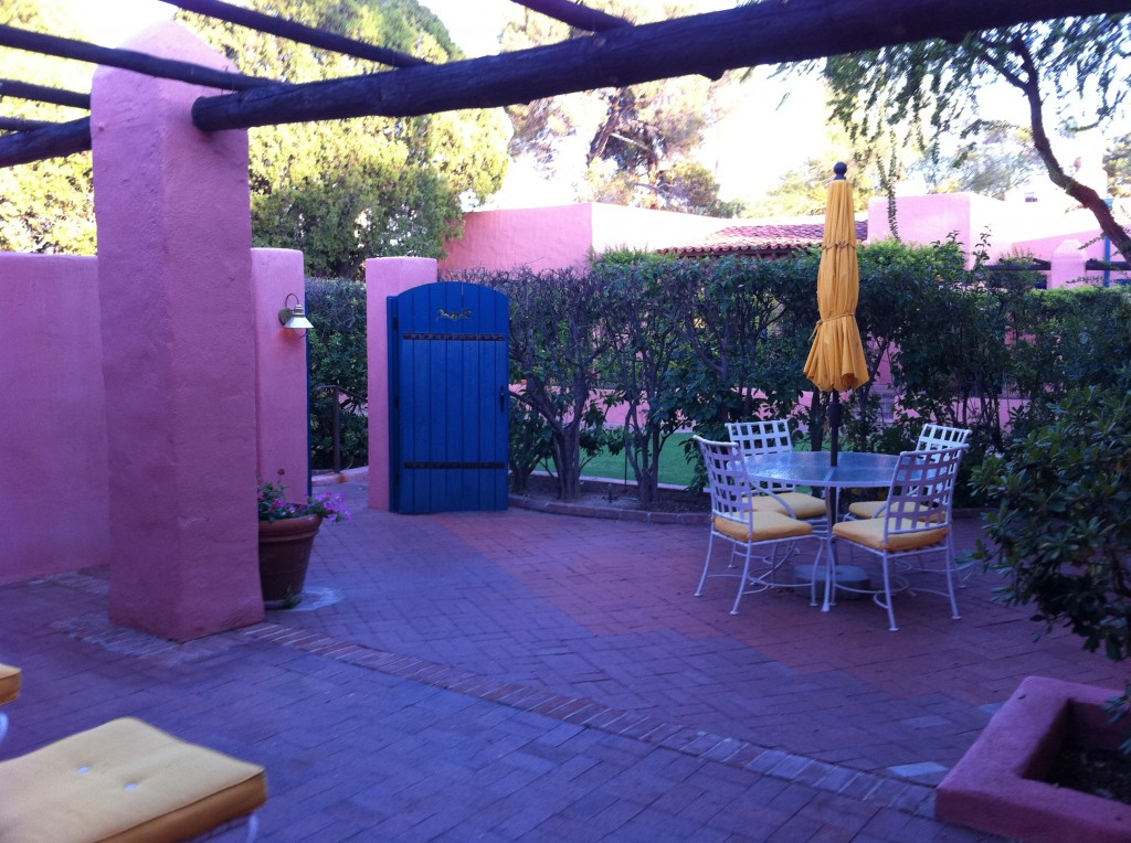 Arizona Inn hotel room Patio