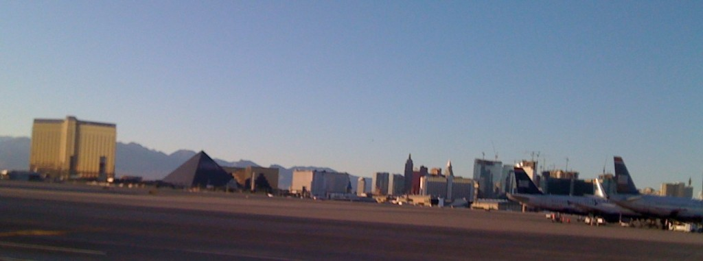 View of the Strip from McCarran Airport 2008