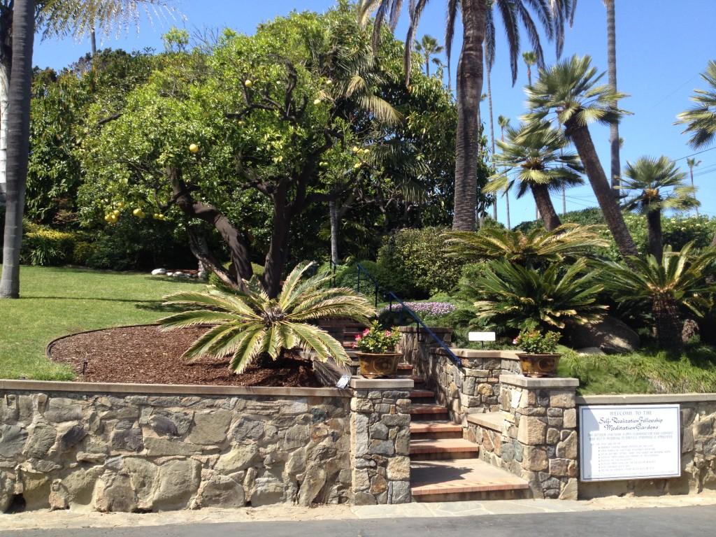 Meditation Gardens front steps