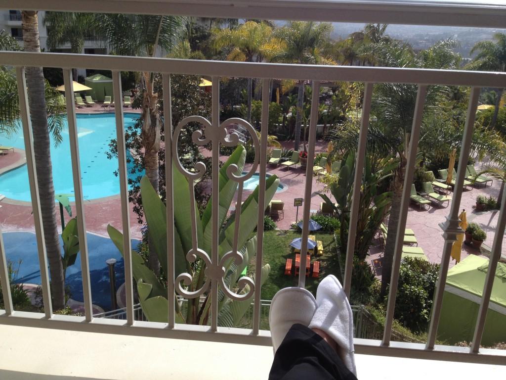 My feet on the patio