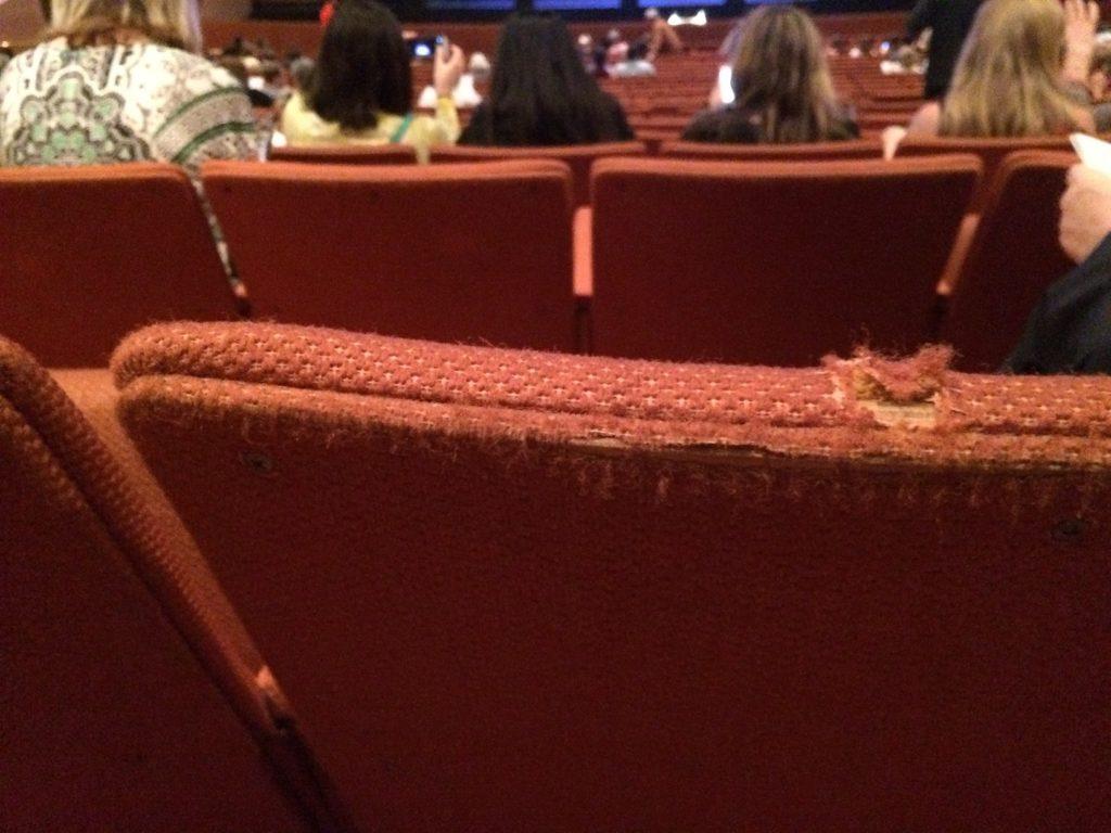 Tattered, dirty seats at ASU's Gammage theater October 2015.
