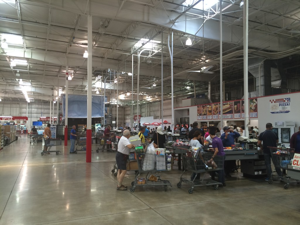 Costco checkout lines after sales tax increase