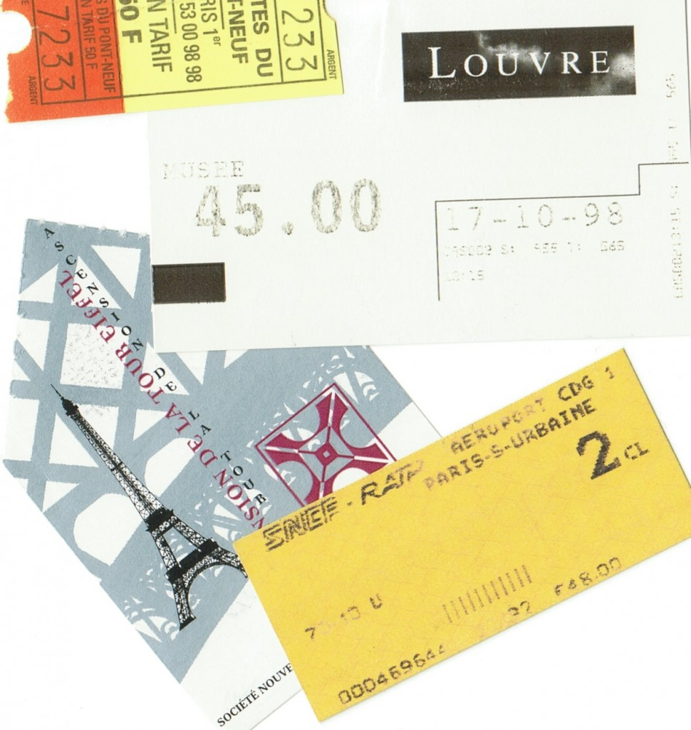 Paris tourism tickets from 1998