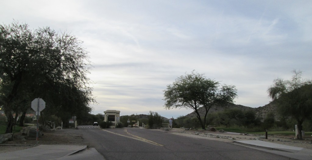 Pima Canyon entrance from Guadalupe
