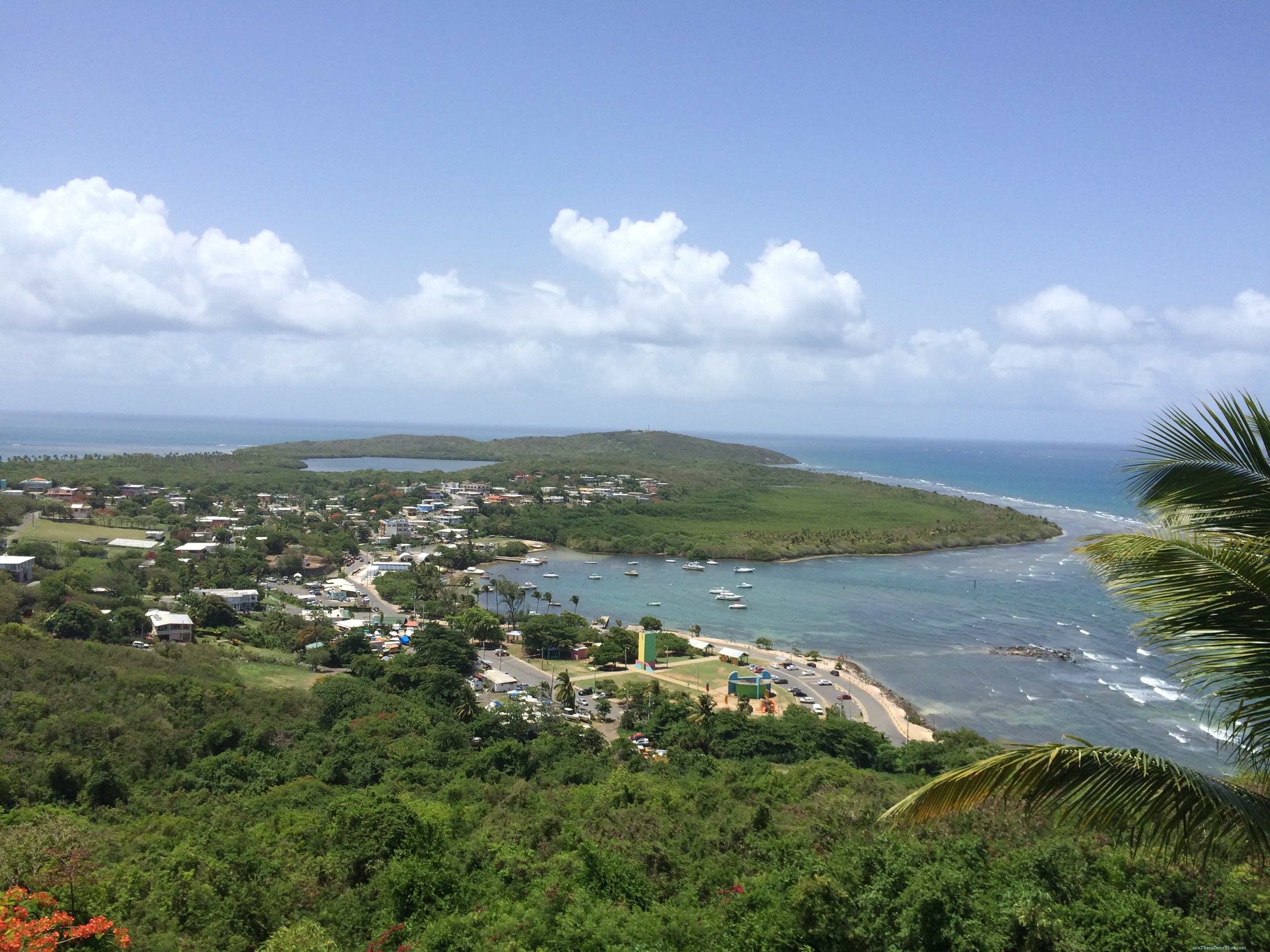 Fajardo Puerto Rico  City new picture : Fajardo, Puerto Rico View of the town center, bioluminescent bay, and ...