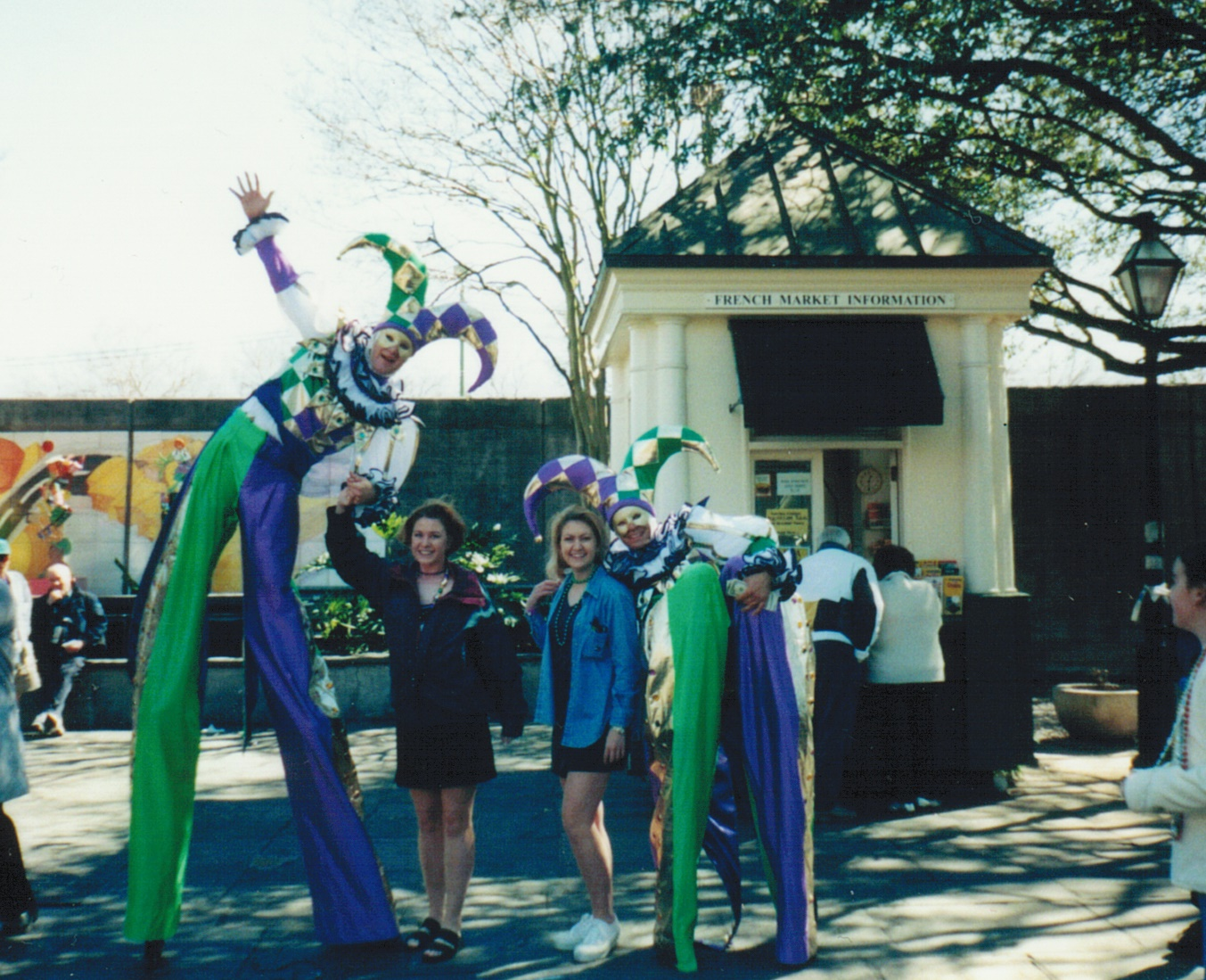 Mardi Gras week long celebrations with my Sister 1999