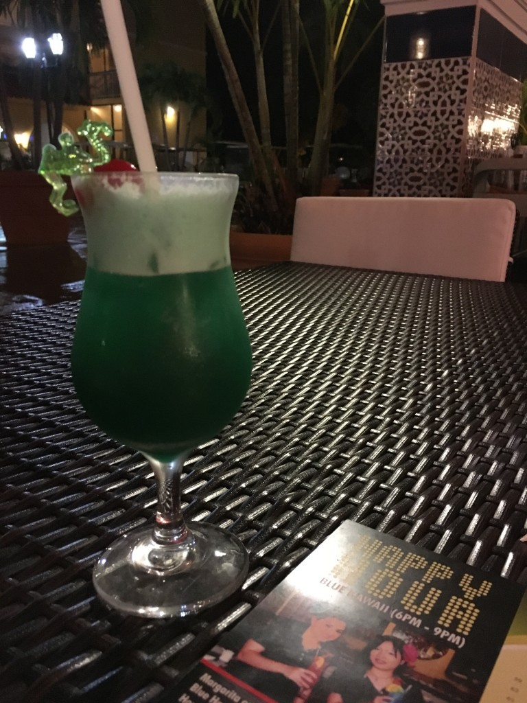 Blue Hawaii signature drink