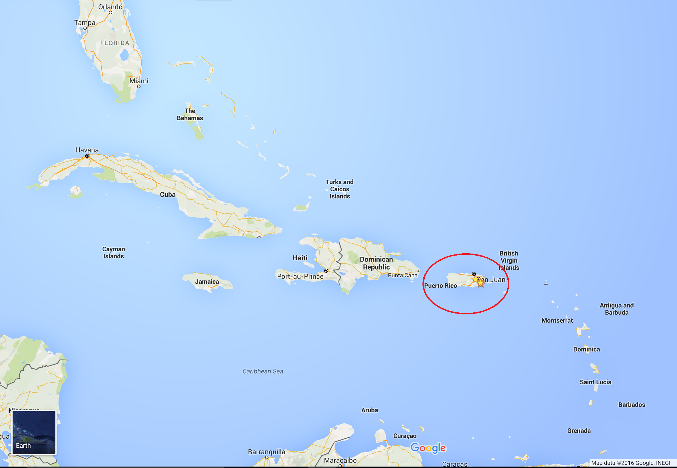 Google Map Caribbean PR Jen There Done That - Map of dominica caribbean sea