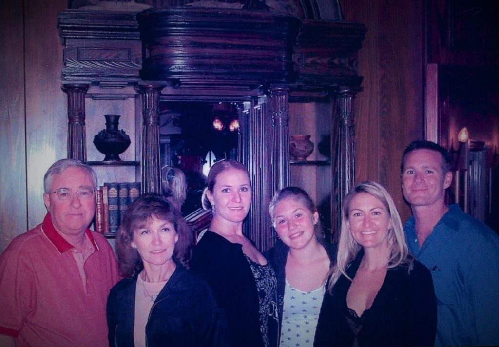 My family at Club 33 for my Birthday dinner in 2006