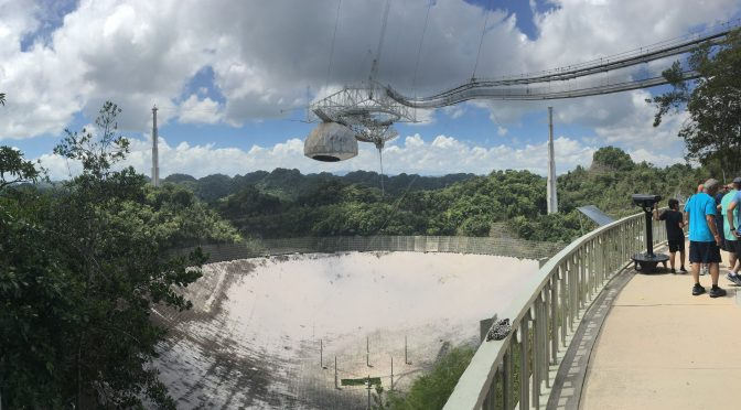 Arecibo Observatory Radio Telescope and Visitor Center in Puerto Rico