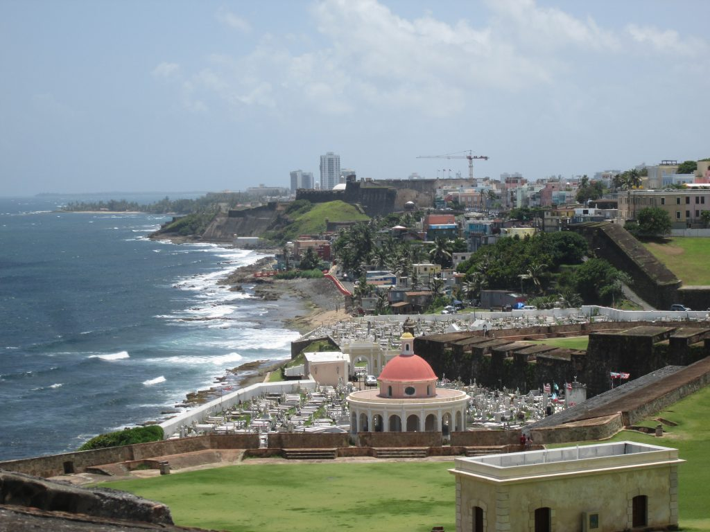 View of the Cemetery and Old San Juan