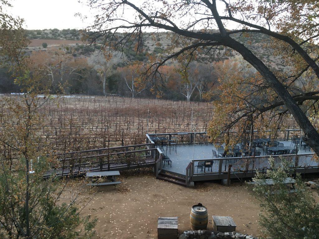 Lower Deck at the Tasting Room vineyard