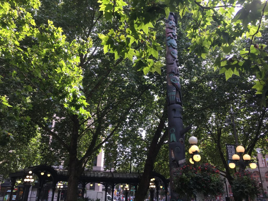 Totem Pole and Iron Pergola at Pioneer Square