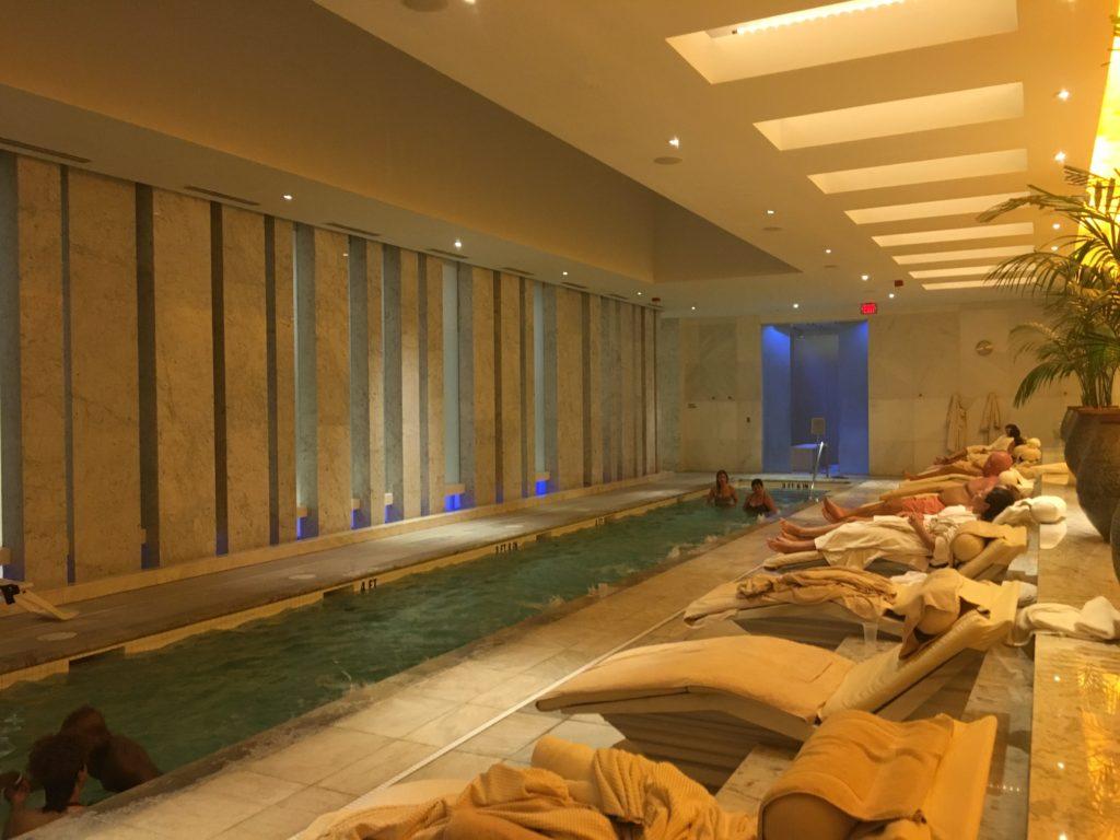 Lapis Spa Mineral Pool at Fontainebleau resort Miami, Florida
