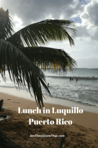 Lunch in Luquillo Puerto Rico