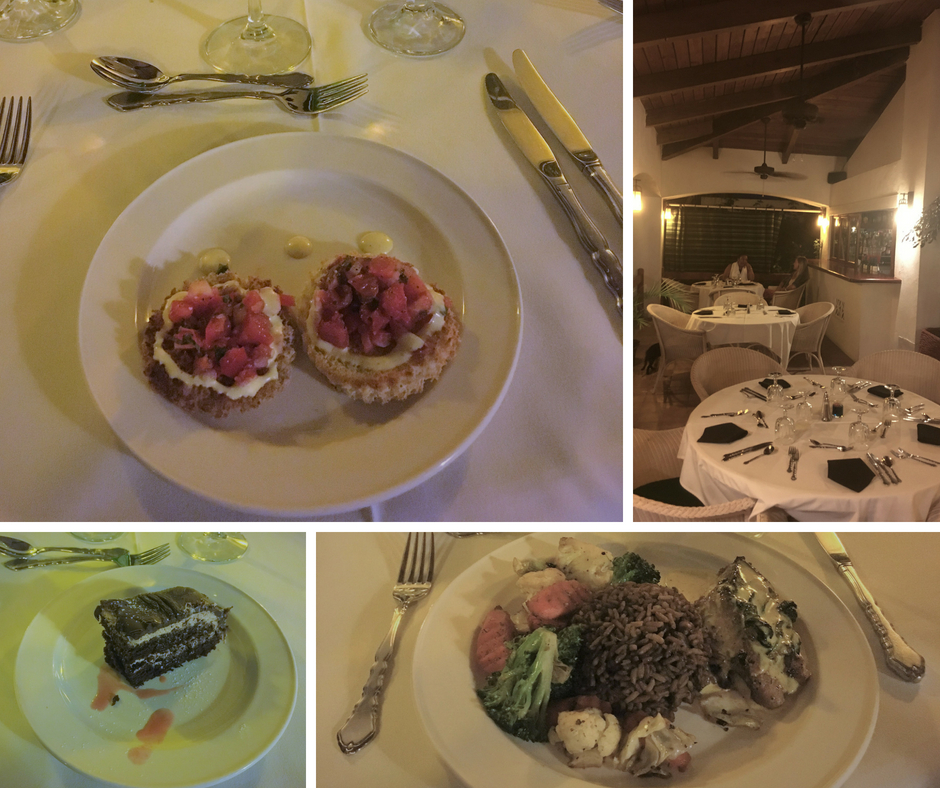 Bella Vista at Mount Nevis Hotel Dinner