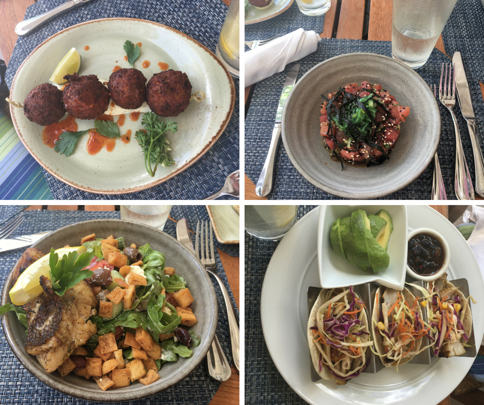 Lunch at the Four Seasons Nevis Cabana Beach Bistro