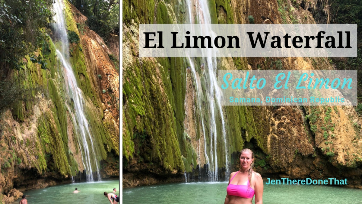 El Limon Waterfall in Dominican Republic