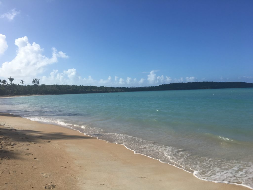 Fajardo Seven Sea blue flag beach, Puerto Rico
