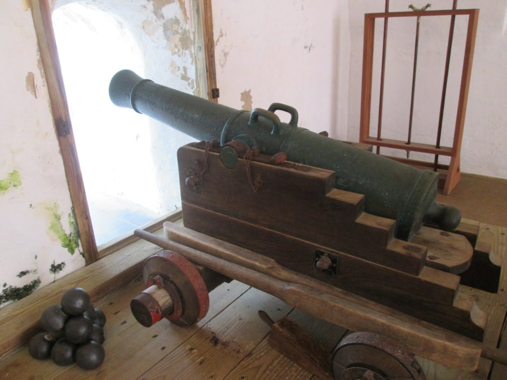 El Morro Fort Old San Juan inside cannon