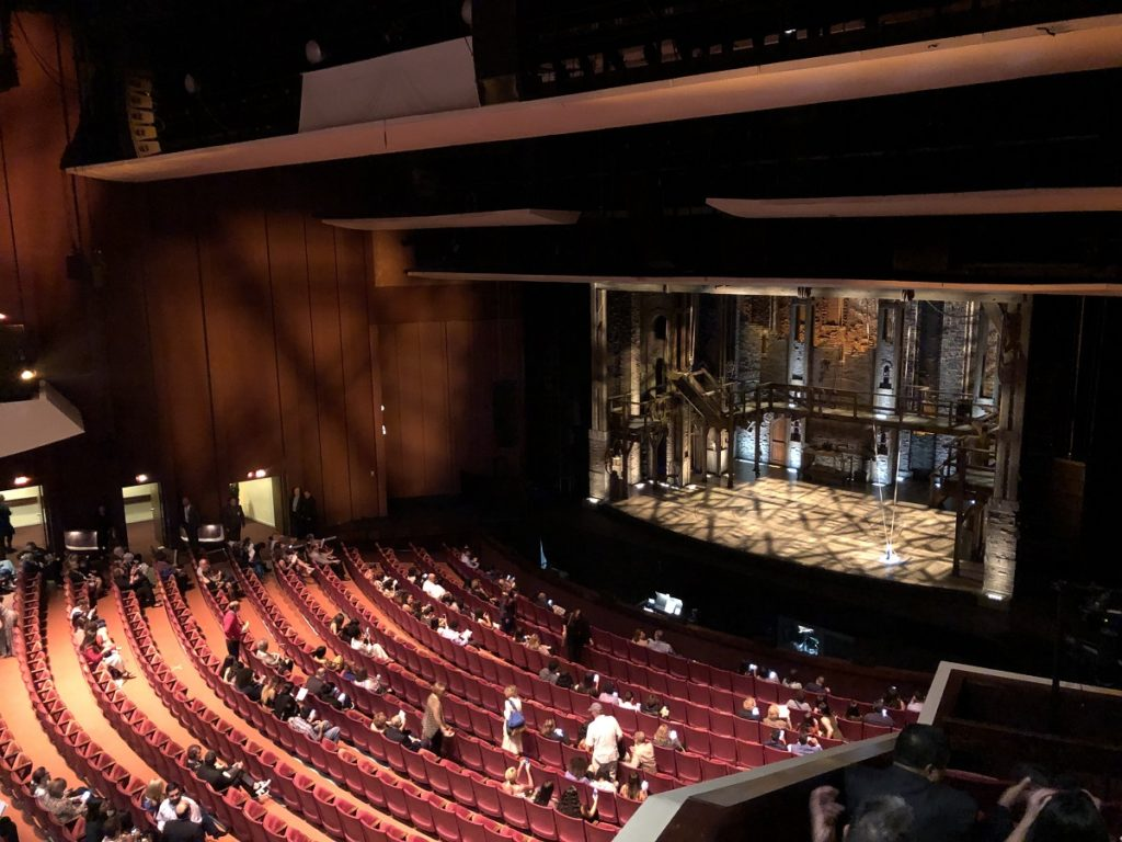 Bellas de Artes Puerto Rico Interior view of the main stage for Hamilton 2019