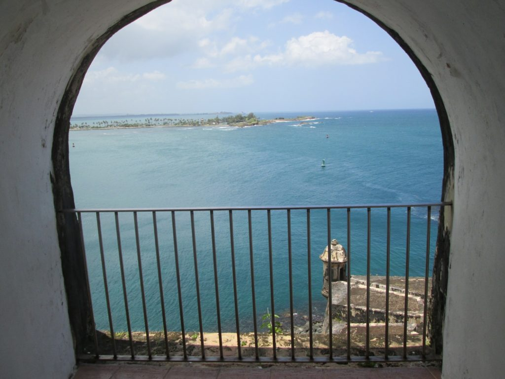 El Morro Fort Old San Juan interior view