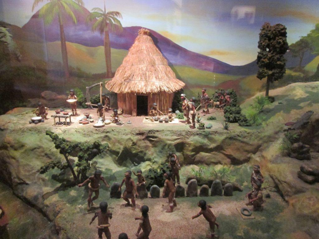 Tiano diorama in the Museo de la Americas, Puerto Rico