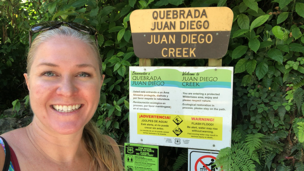 Juan Diego Creek trail head at El Yunque Rainforest, Puerto Rico